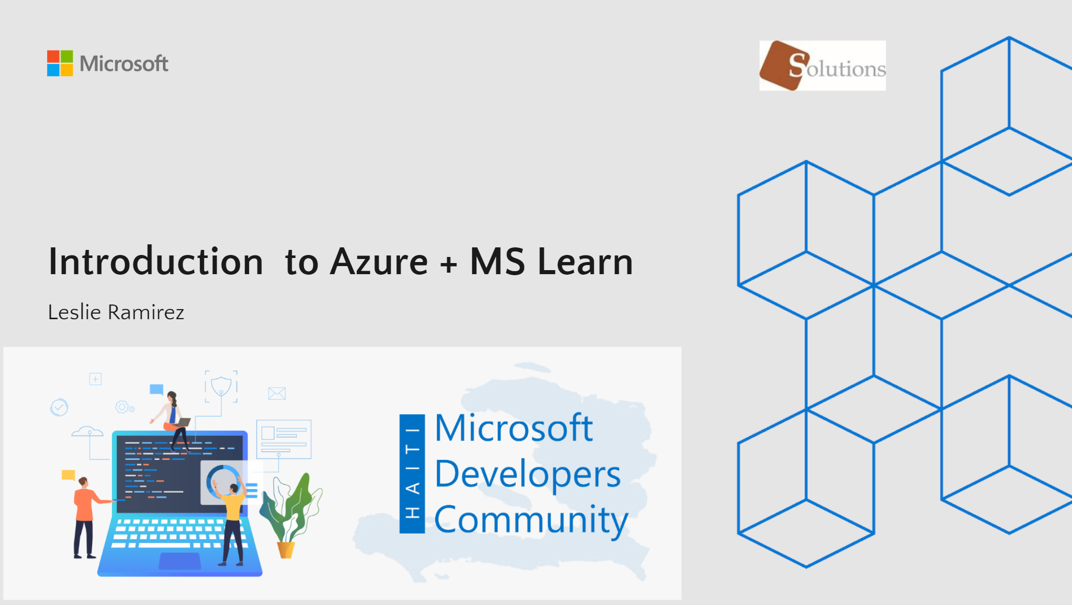 MICROSOFT DEVELOPERS COMMUNITY HAITI: Introduction to azure + MS Learn