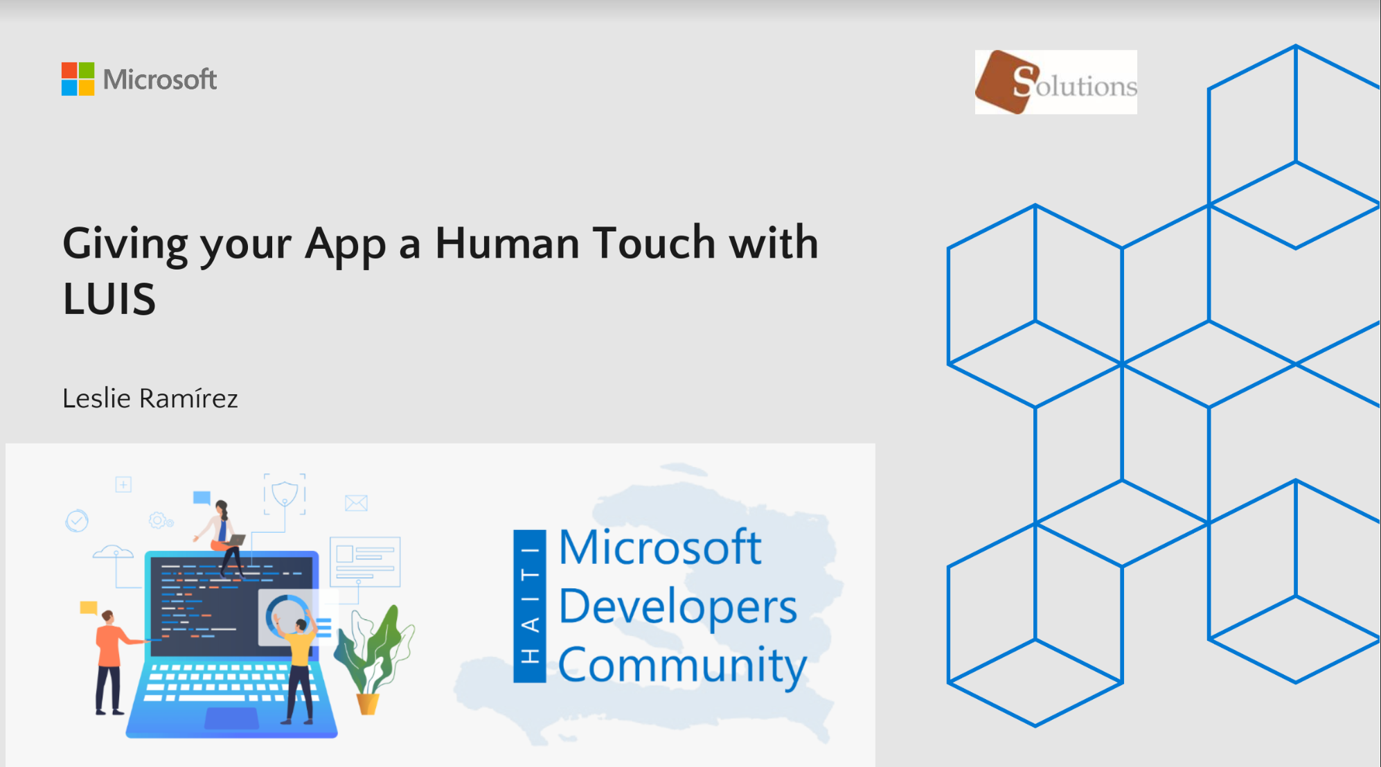 MICROSOFT DEVELOPERS COMMUNITY HAITI: Talk Giving an Human Touch to your app with Luis